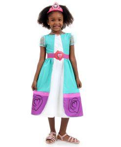 Fantasia Nella Princesa Infantil Luxo – Uma Princesa Corajosa