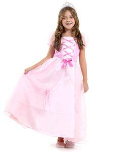 Fantasia Princesinha Rosa Infantil Luxo – Era uma vez