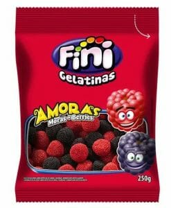Bala de Gelatina Amoras 250g - Fini