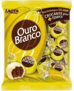 Bombons LACTA Ouro Branco Pacote 1kg - Lacta